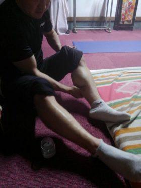 競輪選手の足